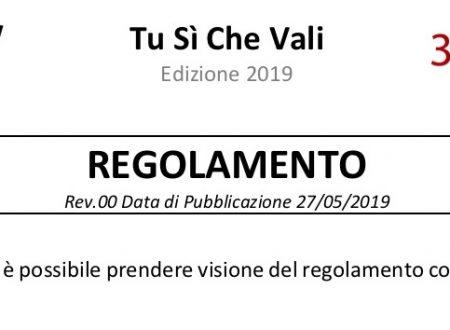 TSCV2019 – Pronto il nuovo Regolamento